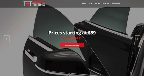 Window Tinting Website