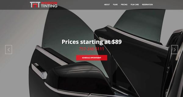 Window Tinting Website